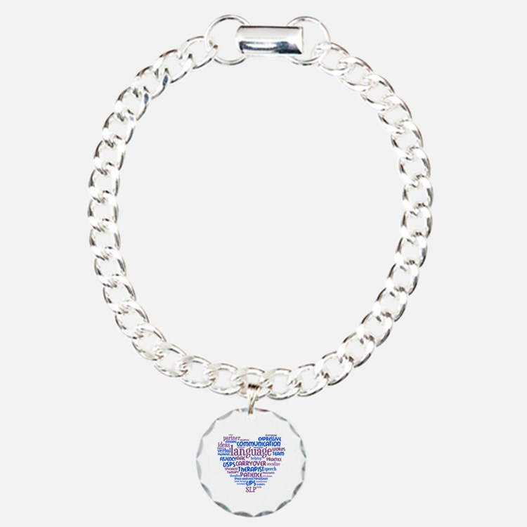SLP Heart - Blue and Pur Bracelet
