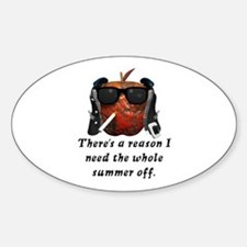 Bad Apple Teacher Gifts Oval Decal