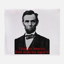 Abraham Lincoln's American Pride Throw Blanket