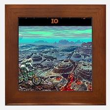 Alien Moon Mt. Biking: Io Framed Tile