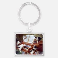Cats on a Piano; Vintage Poster Keychains