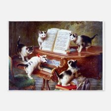 Cats on a Piano; Vintage Poster 5'x7'Area Rug