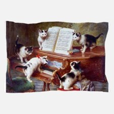 Cats on a Piano; Vintage Poster Pillow Case