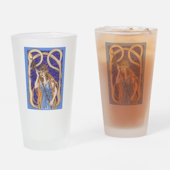 owl eyed athena Drinking Glass
