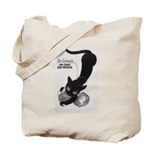 Cat and Yarn; French Vintage Poster Tote Bag