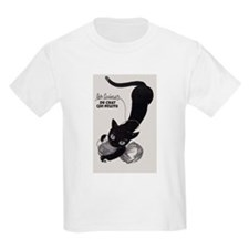 Cat and Yarn; French Vintage Poster T-Shirt