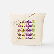 1, 2, 3, 4 , 5 Owls Tote Bag