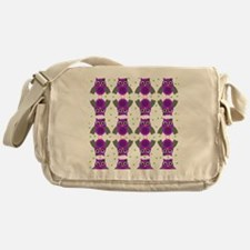 Purple Owls with bow Messenger Bag