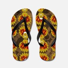 Thanksgiving Shower Curtain Flip Flops