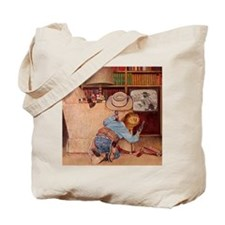 Cowboy and Television; Vintage Poster Tote Bag