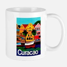 Curacao; Travel Vintage Poster Mugs