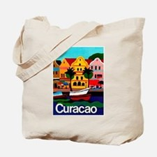 Curacao; Travel Vintage Poster Tote Bag