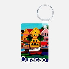 Curacao; Travel Vintage Poster Keychains