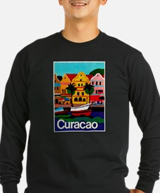 Curacao; Travel Vintage Poster Long Sleeve T-Shirt