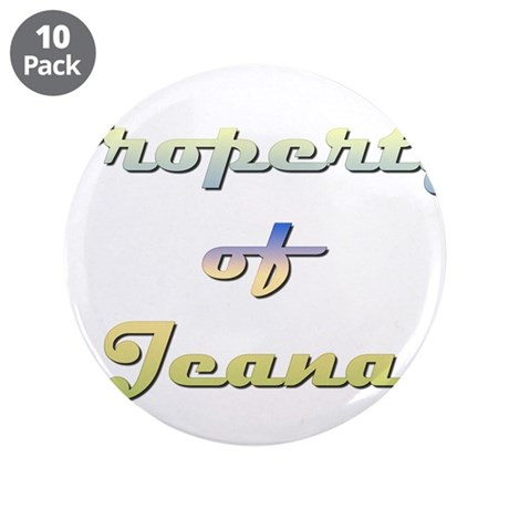 """Property Of Jeana Female 3.5"""" Button (10 pack)"""