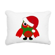 Santa Owl Rectangular Canvas Pillow