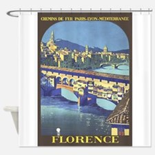 Florence, Italy: Travel Vintage Shower Curtain