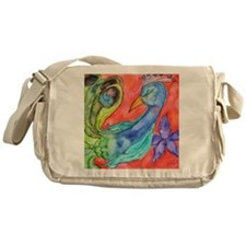 Peacock by Vanessa Curtis Messenger Bag