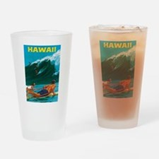 Hawaii, Travel Vintage Poster Drinking Glass