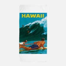Hawaii, Travel Vintage Poster Beach Towel