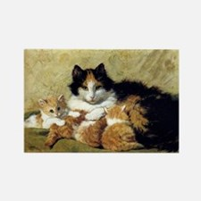 Mother Cat and Kittens, Vintage Art Magnets