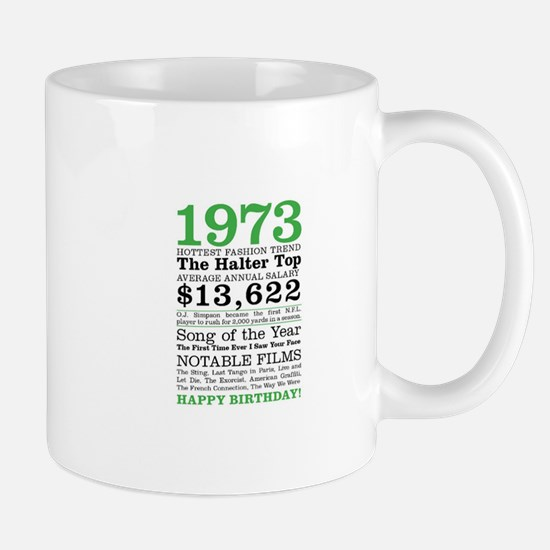 1973 Birthday trivia Mugs