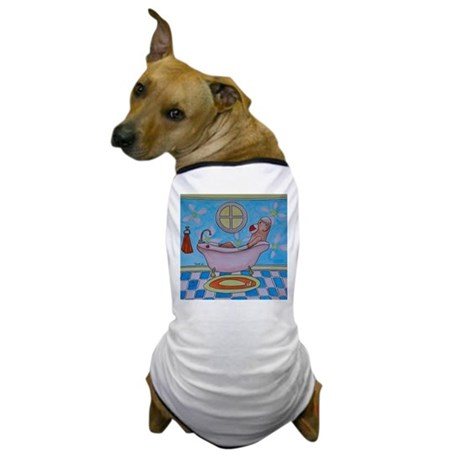 Bath Sock Monkey Dog T-Shirt