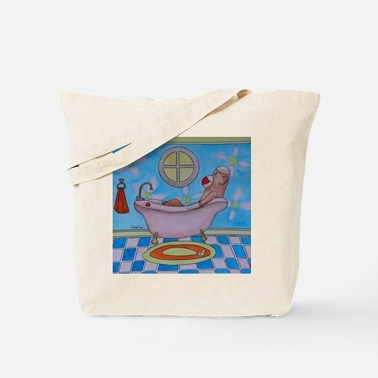 Bath Sock Monkey Tote Bag