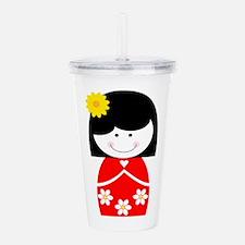 Asian Girl Acrylic Double-wall Tumbler