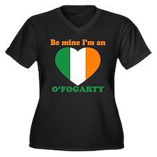 O'Fogarty, Valentine's Day Women's Plus Size V-Nec