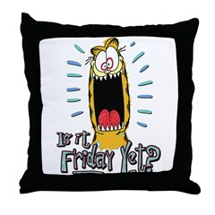 Friday Garfield Throw Pillow
