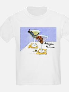 Longhaired Martini Weenies Kids T-Shirt