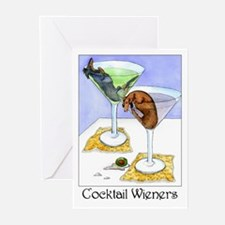 Cocktail Wieners (Longhaired Greeting Cards (Pack