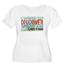 Write To Discover-Color Plus Size T-Shirt
