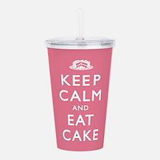 Keep Calm And Eat Cake Acrylic Double-wall Tumbler