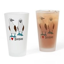 I Heart Boobies Drinking Glass