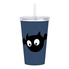 Cute Bat Acrylic Double-wall Tumbler