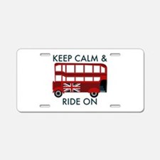 Keep Calm & Ride On Aluminum License Plate
