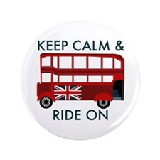 """Keep Calm & Ride On 3.5"""" Button (100 pack)"""