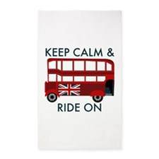 Keep Calm & Ride On 3'x5' Area Rug