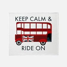 Keep Calm & Ride On Throw Blanket