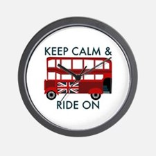 Keep Calm & Ride On Wall Clock