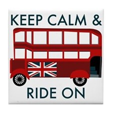 Keep Calm & Ride On Tile Coaster