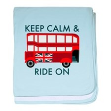 Keep Calm & Ride On baby blanket