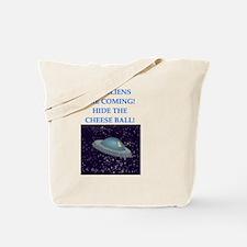 Funny Alien invasion Tote Bag