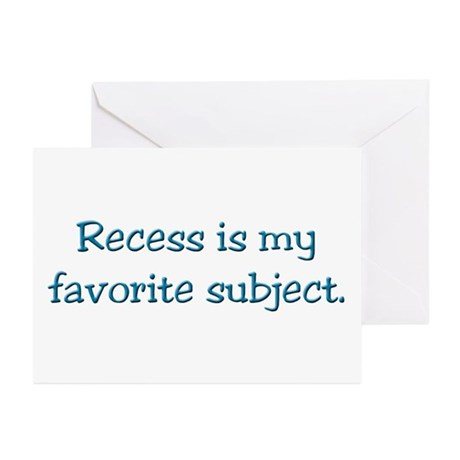 Recess gifts for teachers Greeting Cards (Package