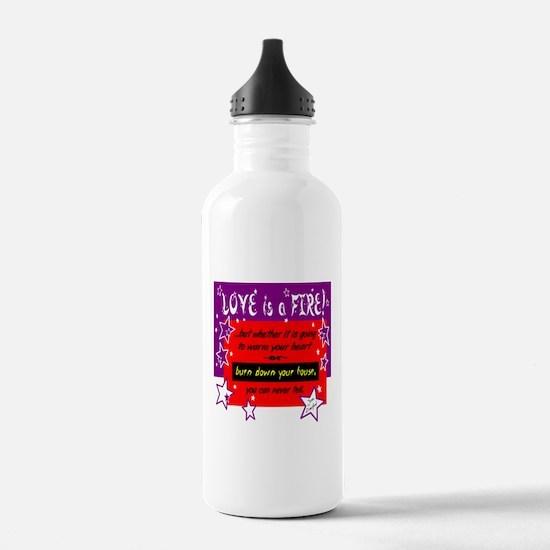 Love Is A Fire/Joan Crawford Water Bottle