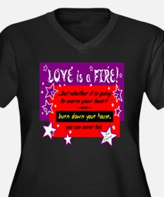 Love Is A Fire/Joan Crawford Plus Size T-Shirt