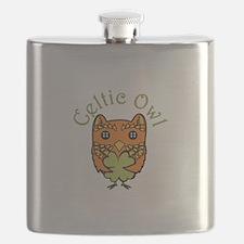 Celtic Owl Flask