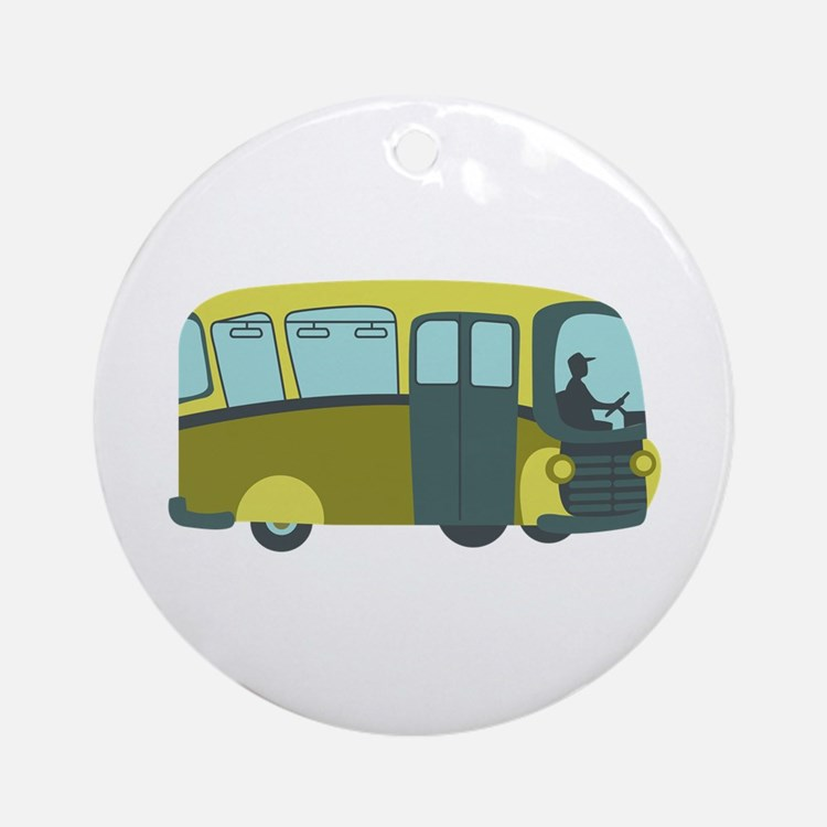 City Bus Ornament (Round)